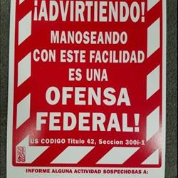 Spanish Warning Sign